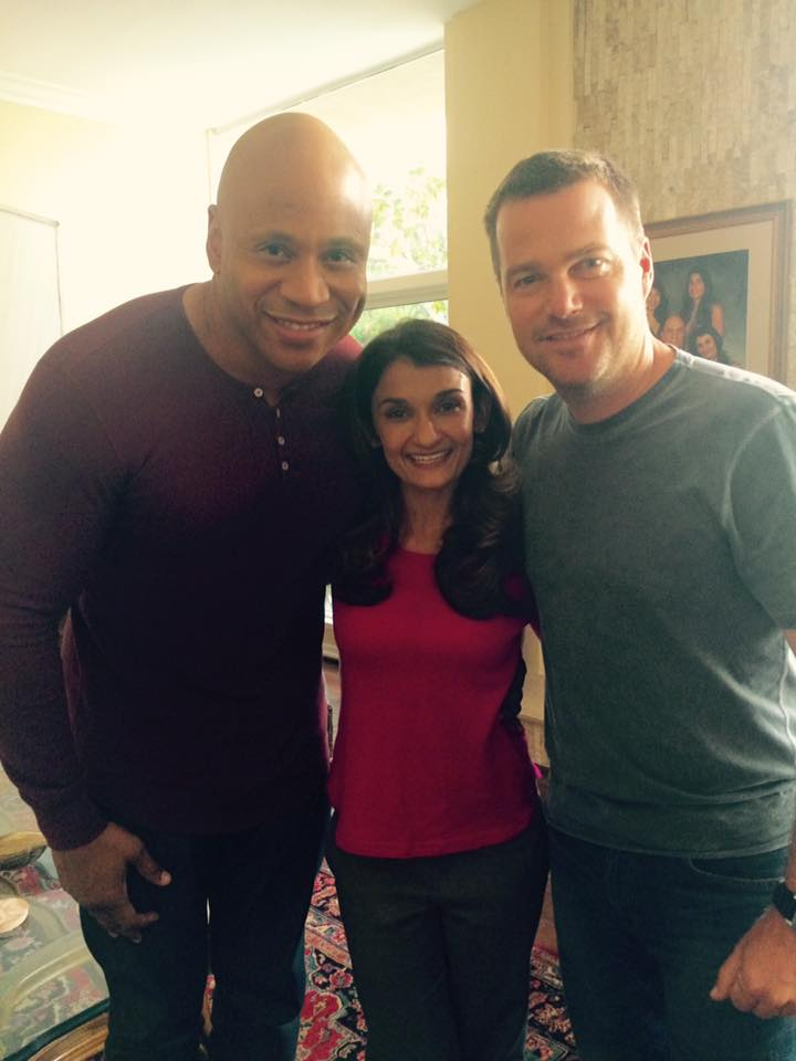 With LL Cool J and Chris O'Donnell of NCIS: Los Angeles